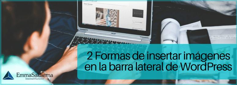 Cómo Insertar imágenes en la barra lateral de WordPress